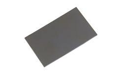 Tarjeta gris en blanco Fotos de archivo