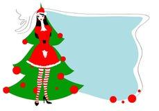 Tarjeta gteeeting de la Navidad Imagen de archivo libre de regalías