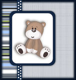 Tarjeta hermosa con el oso de peluche Fotos de archivo libres de regalías