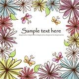 Tarjeta hermosa de la flor Foto de archivo libre de regalías