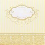 Tarjeta hermosa de la invitación de la boda Imagenes de archivo