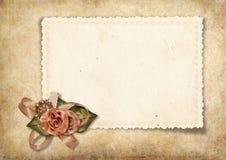 Tarjeta hermosa de la vendimia Imagenes de archivo