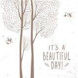 Tarjeta hermosa de los árboles libre illustration