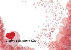 Tarjeta hermosa del día de tarjetas del día de San Valentín Fotos de archivo libres de regalías
