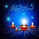 Tarjeta hermosa del diwali del vector Foto de archivo