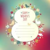 Tarjeta hermosa del instagram para el día para mujer Imagen de archivo libre de regalías