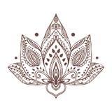 Tarjeta hermosa del ornamento con yoga del vector ilustración del vector