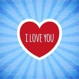 Tarjeta hermosa el día de tarjeta del día de San Valentín. Imagen de archivo libre de regalías
