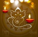 Tarjeta hermosa Lord Ganesha artístico colorido libre illustration