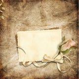Tarjeta hermosa para la enhorabuena o la invitación Foto de archivo libre de regalías