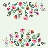 Tarjeta hollyday colorida de la flor Fotografía de archivo libre de regalías