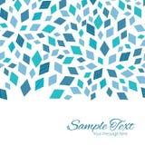 Tarjeta horizontal azul de la frontera de la textura de mosaico del vector Foto de archivo