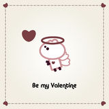 Tarjeta ilustrada de las tarjetas del día de San Valentín Ilustración del Vector