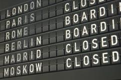Tarjeta informativa electrónica del aeropuerto Imagen de archivo libre de regalías