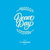 Tarjeta internacional del día de la paz, cartel Fotos de archivo