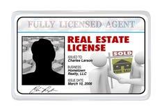 Tarjeta laminada - Real Estate autoriza para el agente Professional Imagen de archivo libre de regalías