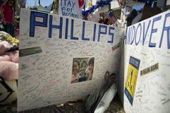 Tarjeta a las víctimas de Phillips Andover Imágenes de archivo libres de regalías