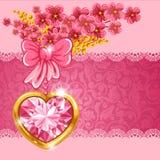Tarjeta linda de la tarjeta del día de San Valentín Foto de archivo libre de regalías