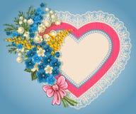 Tarjeta linda de la tarjeta del día de San Valentín Fotografía de archivo libre de regalías