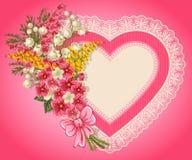 Tarjeta linda de la tarjeta del día de San Valentín Imágenes de archivo libres de regalías