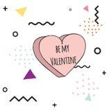 Tarjeta linda del día del `s de la tarjeta del día de San Valentín stock de ilustración