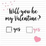 Tarjeta linda del día del `s de la tarjeta del día de San Valentín ilustración del vector