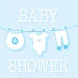 Tarjeta linda del ivitation de la ducha del bebé Imágenes de archivo libres de regalías