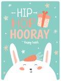 Tarjeta linda feliz de Pascua en vector libre illustration