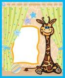Tarjeta linda para el bebé. Fotos de archivo libres de regalías