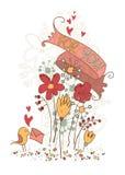 Tarjeta linda. ¡Para usted! Imagen de archivo libre de regalías