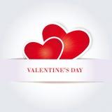 Tarjeta linda simple el el día de tarjeta del día de San Valentín Fotografía de archivo
