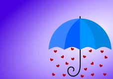 Tarjeta lluviosa del día de padres del amor Fotos de archivo