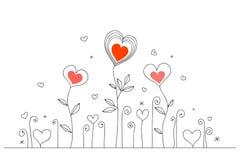Tarjeta a mano del amor Foto de archivo