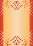 tarjeta marrón del vector con cedazo Foto de archivo libre de regalías