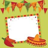 Tarjeta mexicana de la parte Imagenes de archivo