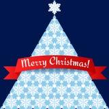 Tarjeta minimalistic estilizada del árbol de navidad Imagen de archivo libre de regalías