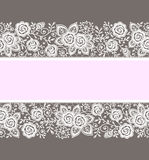 tarjeta Modelo de las rosas stock de ilustración