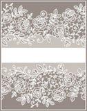 tarjeta Modelo del cordón de las rosas stock de ilustración