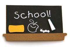 Tarjeta negra de la escuela imagen de archivo libre de regalías