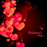 Tarjeta negra del día de tarjeta del día de San Valentín Imagen de archivo libre de regalías