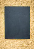 Tarjeta negra vacía Imagen de archivo libre de regalías