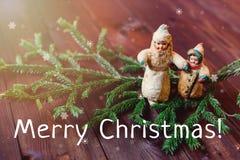 Tarjeta nuevo Year& x27; juguetes de s Fotografía de archivo libre de regalías