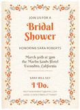 Tarjeta nupcial de la invitación de la ducha Fotografía de archivo