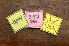 Tarjeta o bandera de felicitación del feliz cumpleaños Imagen de archivo libre de regalías
