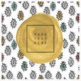 Tarjeta o cartel dibujada mano Textura del oro Foto de archivo libre de regalías