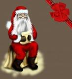Tarjeta o fondo de la vendimia de la Navidad con el Cl de Santa Imagenes de archivo