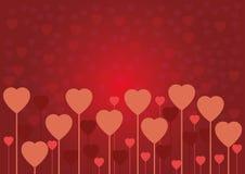 Tarjeta o fondo del amor de la tarjeta del día de San Valentín Foto de archivo libre de regalías