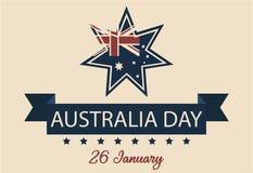 Tarjeta o fondo del día de Australia Foto de archivo libre de regalías