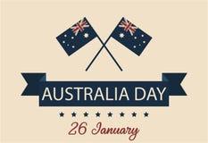 Tarjeta o fondo del día de Australia Fotos de archivo