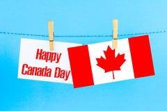 Tarjeta o fondo feliz de felicitación del día de Canadá Fotografía de archivo